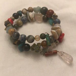 Jewelry - Wire stone bracelet